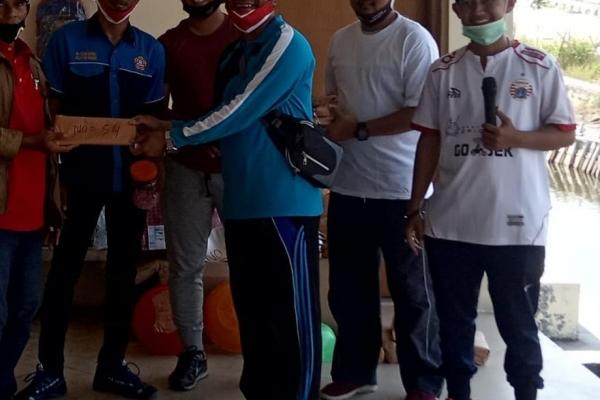 Kepala Desa Tanjung Pasir Pimpin Langsung Gerak Jalan santai Sambut HUT RI Ke-75